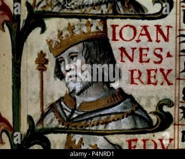 GENEALOGIA REYES-JUAN I REY DE PORTUGAL-1383/1433. Author: Alonso de Cartagena (1385-1456). Location: BIBLIOTECA NACIONAL-COLECCION, MADRID, SPAIN. - Stock Photo