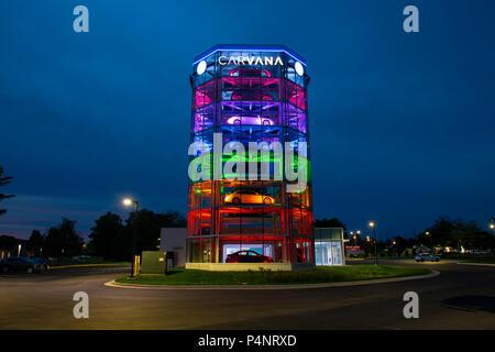 usa gaithersburg maryland md carvana auto automobile car dealer using a vending machine concept. Black Bedroom Furniture Sets. Home Design Ideas