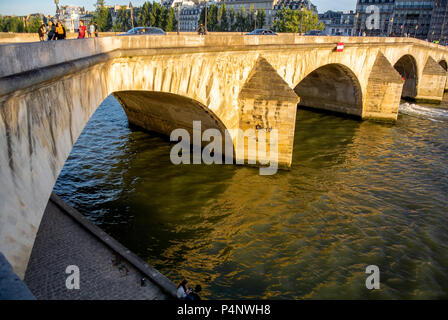 Pont Royal on the river Seine, paris, france - Stock Photo