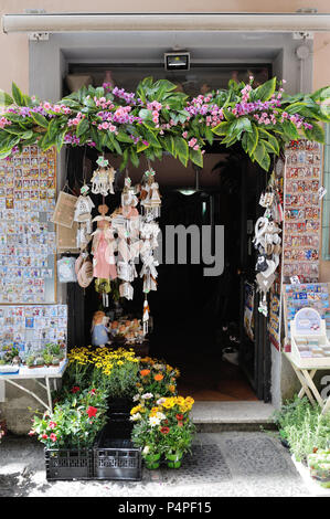 VIETRI SUL MARE, ITALY - April 27, 2018 Colorful ceramic shop in Amalfi Coast - Stock Photo