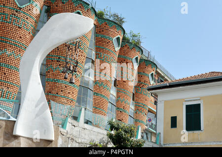 VIETRI SUL MARE, ITALY - April 27, 2018  Famous ceramic factory in Amalfi Coast - Stock Photo