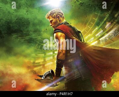Original Film Title: THOR: RAGNAROK.  English Title: THOR: RAGNAROK.  Film Director: TAIKA WAITITI.  Year: 2017.  Stars: CHRIS HEMSWORTH. Credit: MARVEL STUDIOS/WALT DISNEY PICTURES / Album - Stock Photo