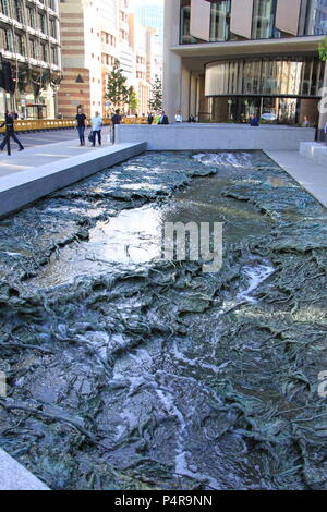 'Forgotten Streams': public artwork by Spanish artist Cristina Iglesias at Bloomberg's new European Headquarters, City of London, UK, PETER GRANT - Stock Photo