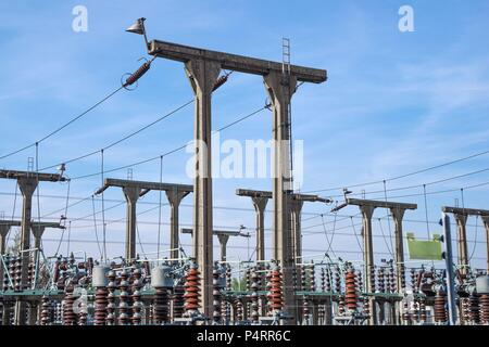 Electricity generating substation in the West Midlands, UK. - Stock Photo