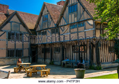 Hall's Croft where Shakespeare's daughter lived with her husband in Stratford-upon-Avon. - Stock Photo