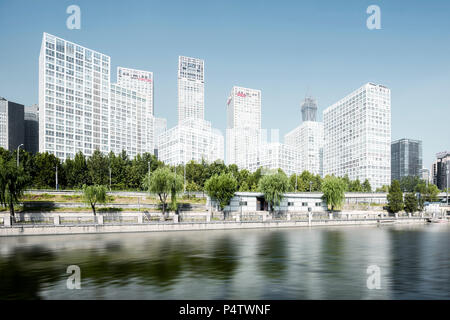 China, Beijing, Central Business District - Stock Photo