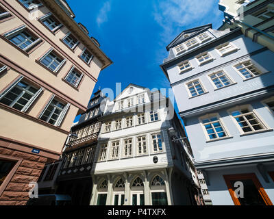 Germany, Hesse, Frankfurt, Old town, reconstructions of houses - Stock Photo