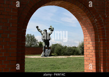 Memento Park is an open-air museum located in Budapest, Hungary. - Stock Photo