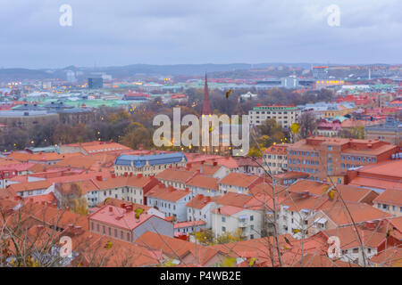 Gothenburg City scape during early morning captured from skansan kronan - Stock Photo