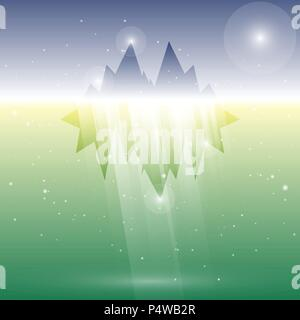 Created underwater glacier abstract background, stock vector - Stock Photo
