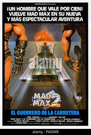 Original Film Title: THE MAD MAX II: ROAD WARRIOR.  English Title: THE MAD MAX II: ROAD WARRIOR.  Film Director: GEORGE MILLER.  Year: 1981. Credit: WARNER BROTHERS / Album - Stock Photo