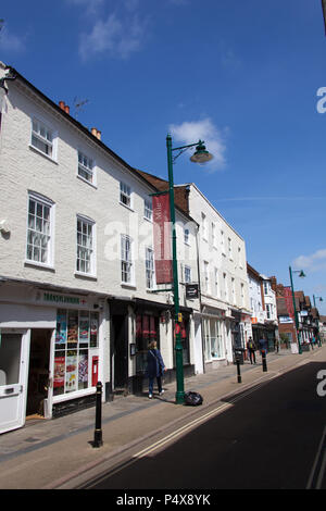 City of Canterbury, England. Picturesque view of shops at Northgate on Canterbury's King's Mile. - Stock Photo