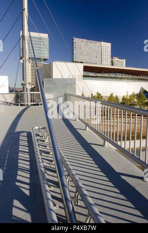 Buildings in Diagonal-Mar. Sant Marti district. Barcelona city. Spain. - Stock Photo