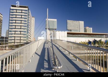 Buildings in Diagonal-Mar. Sant Marti district. Barcelona city. Spain. - Stock Photo