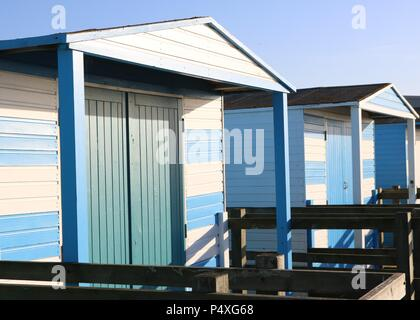 Colourful Beach Huts , Whitstable Kent - Stock Photo