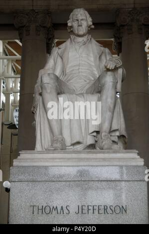 Thomas Jefferson (1743-1826). American Founding Father, the principal author of the Declaration of Independence (1776) and the third President of the United States (1801Ð1809). Statue. Missouri History Museum. Old Jefferson Memorial Building. St. Louis. Missouri. USA. - Stock Photo