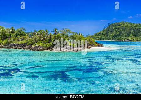 Anse I'Islette on Mahe in Seychelles - Stock Photo