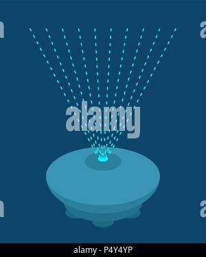 Hologram projector template  Rays of light  Vector illustration