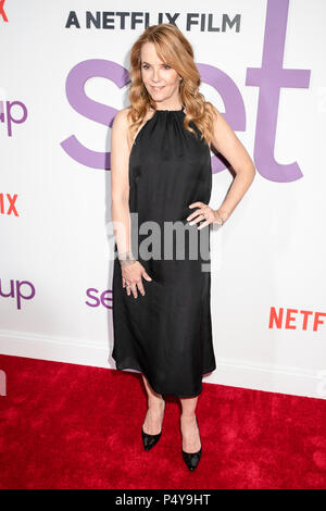 New York, United States. 12th June, 2018. Lea Thompson attends the Set It Up New York Screening at AMC Lincoln Square Theater Credit: Lev Radin/Pacific Press/Alamy Live News - Stock Photo