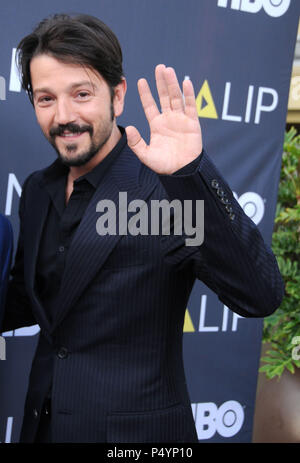 LOS ANGELES, CA - JULY 23: Actor Diego Luna attends the NALIP Latino Media Awards on June 23, 2018 at The Ray Dolby Ballroom in Los Angeles, California. Photo by Barry King/Alamy Live News - Stock Photo