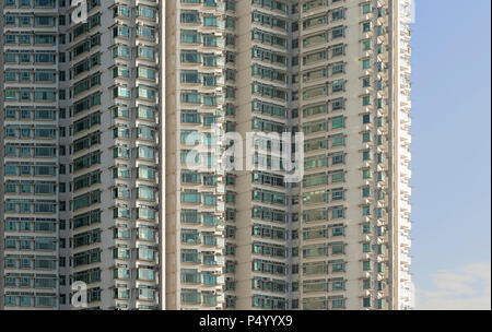 China, Hong Kong, Lantau Island, high-rise residential building - Stock Photo