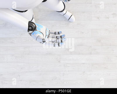 Hand of a robot, 3d rendering - Stock Photo