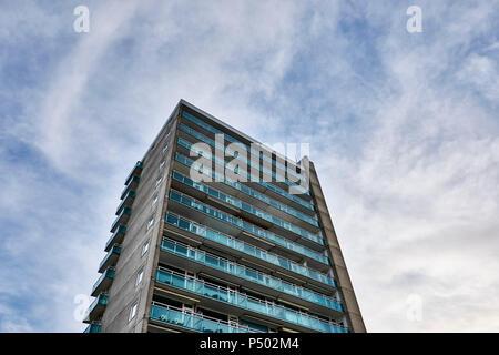 Netherlands, Zandvoort, high-rise building - Stock Photo