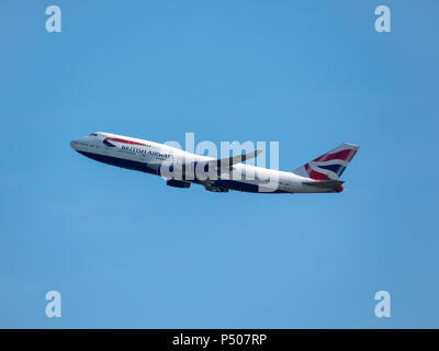 Boeing 747-436 (G-BLNP) aircraft Operated by British Airways - Stock Photo