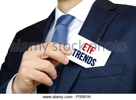 ETF Trends - exchange traded fund stock market - Stock Photo