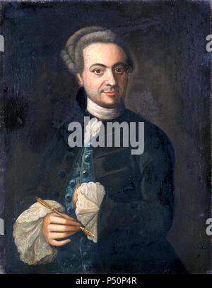 1744 und später, Selbstbildnis des Malers Ludolf Ernst Andreas Lafontaine (1704-1774) fmbc31055 11.. [Bildindex  der Kunst und Architektur] - Stock Photo