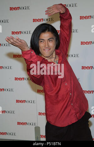 Shin Koyamada (Tom Cruise's co-star in The Last Samurai) arriving at the ' TEEN VOGUE 1ST ANNUAL YOUNG HOLLYWOOD ISSUE ' in  a private residence in Beverly Hills (Los Angeles). September 5, 2003.  KoyamadaShin102 Red Carpet Event, Vertical, USA, Film Industry, Celebrities,  Photography, Bestof, Arts Culture and Entertainment, Topix Celebrities fashion /  Vertical, Best of, Event in Hollywood Life - California,  Red Carpet and backstage, USA, Film Industry, Celebrities,  movie celebrities, TV celebrities, Music celebrities, Photography, Bestof, Arts Culture and Entertainment,  Topix, vertical,  - Stock Photo