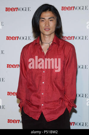 Shin Koyamada (Tom Cruise's co-star in The Last Samurai) arriving at the ' TEEN VOGUE 1ST ANNUAL YOUNG HOLLYWOOD ISSUE ' in  a private residence in Beverly Hills (Los Angeles). September 5, 2003.  KoyamadaShin108 Red Carpet Event, Vertical, USA, Film Industry, Celebrities,  Photography, Bestof, Arts Culture and Entertainment, Topix Celebrities fashion /  Vertical, Best of, Event in Hollywood Life - California,  Red Carpet and backstage, USA, Film Industry, Celebrities,  movie celebrities, TV celebrities, Music celebrities, Photography, Bestof, Arts Culture and Entertainment,  Topix, vertical,  - Stock Photo