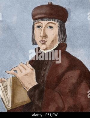 Juan Ruiz (ca.1283-ca. 1350), known as the Archpriest of Hita (Arcipreste de Hita). Medieval Spanish poet. - Stock Photo
