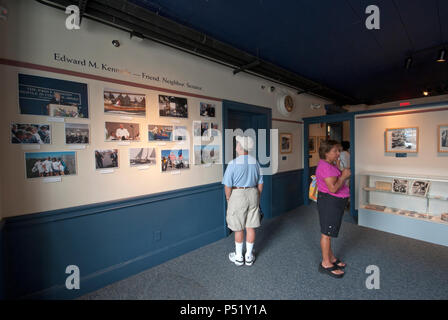 Visitors at JFK Museum, Hyannis, Barnstable County, Massachusetts, USA - Stock Photo