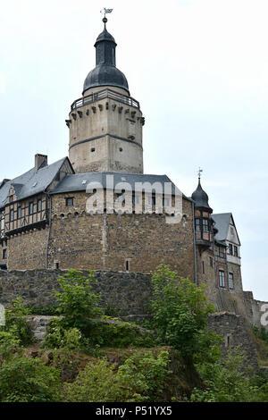 Castle Falkenstein in the Harz in Germany - Stock Photo