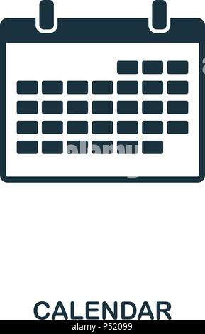 DevicesCalendar icon. Line style icon design. UI. Illustration of calendar icon. Pictogram isolated on white. Ready to use in web design, apps, software, print. - Stock Photo