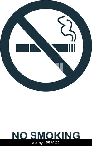 No Smoking icon. Line style icon design. UI. Illustration of no smoking icon. Pictogram isolated on white. Ready to use in web design, apps, software, print. - Stock Photo