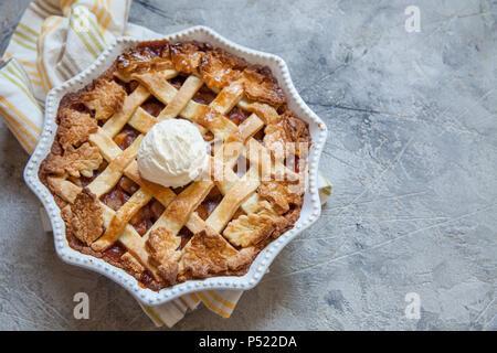 Traditional American Apple pie - Stock Photo
