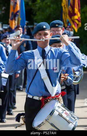 Hastings, East Sussex, UK. 24th Jun, 2018. A parade and remembrance service by members of the Armed forces, Veterans, Cadets, Scouts and guides. © Paul Lawrenson 2018, Photo Credit: Paul Lawrenson / Alamy Live News - Stock Photo