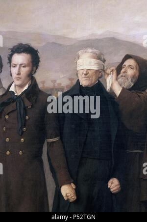 'The execution of General Torrigo and his companions in 1831' (detail), 1888, Oil on canvas. Author: Antonio Gisbert (1834-1901). Location: MUSEO DEL PRADO-PINTURA, MADRID, SPAIN. - Stock Photo