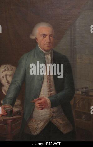 JERONIMO ANTONIO GIL (1732-1798) GRABADOR DE LA REAL CASA DE LA MONEDA Y DIRECTOR DE LA REAL ACADEMIA DE SAN CARLOS DE LA NUEVA ESPAÑA. Author: Rafael Ximeno y Planes (1759-1825). Location: MUSEO NACIONAL DE ARTE, MEXICO CITY, CIUDAD DE MEXICO. - Stock Photo