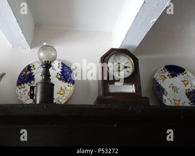 Vintage room set up as a 1969 time capsule - Stock Photo