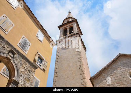 Saint Ivan Church, Old Town (Stari Grad), Budva, Montenegro, Adriatic Coast, Balkans, May 2018 - Stock Photo