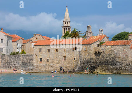 Old Town (Stari Grad), Budva, Montenegro, Adriatic Coast, Balkans, May 2018 - Stock Photo