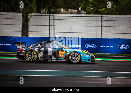 Mexico City, Mexico – September 01, 2017: Autodromo Hermanos Rodriguez. 6hrs of Mexico, FIA WEC. DEMPSEY-PROTON RACING driver´s Christian Ried, Matteo Cairoli or Marvin Dienst, at the Porsche 911 RSR (991) No. 77, at the Free Practice I. - Stock Photo