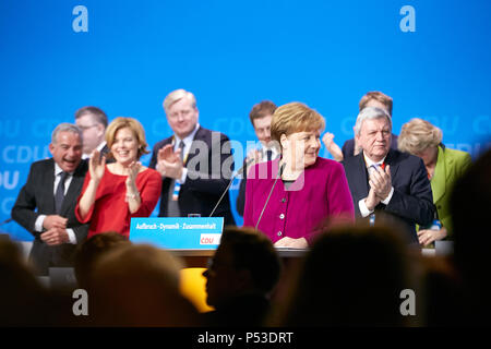 Berlin, Germany - The party leader Angela Merkel at the 30th Federal Party Congress of the CDU. - Stock Photo