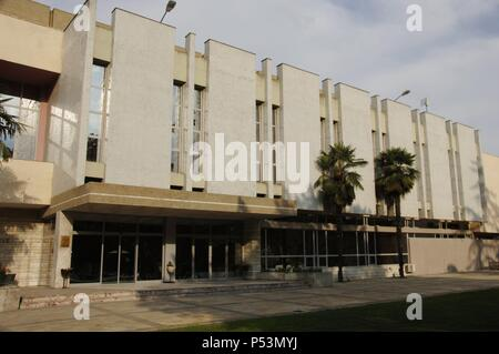 Albania. Tirana. National Art Gallery. Facade. - Stock Photo