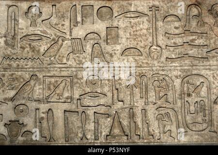 Hieroglyphic writing  Limestone architrave of the tomb of