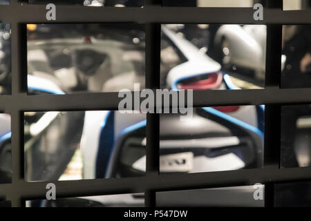 abstract blurs and reflections with mirrors - Stock Photo