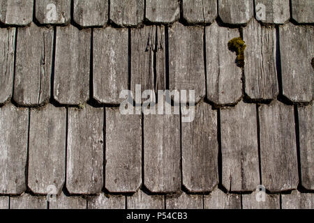 Wood roof - old traditional method for roofing - Cedar roof shingles and shakes are renowned for their insulation qualities, dimensional stability and - Stock Photo